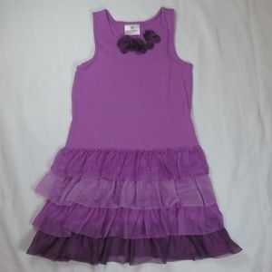 Hanna Andersson 130 8 Fizzie Purple Sundress Tulle